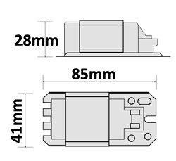 Dimensions ballast Vossloh L 7/9/11.307