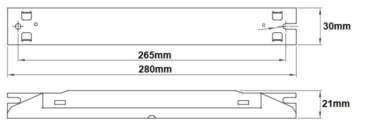 Dimensions ballast LCI ESB 118-40
