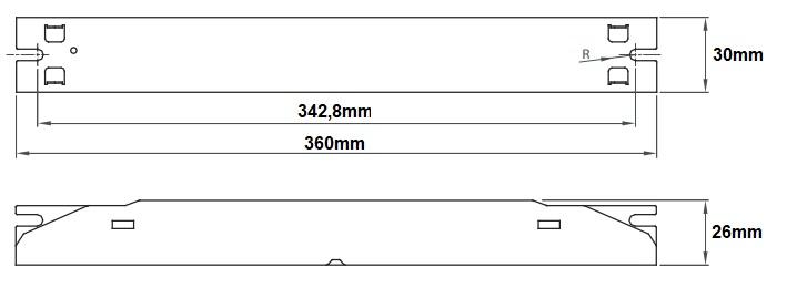 Dimensions ballast LCI EB 280