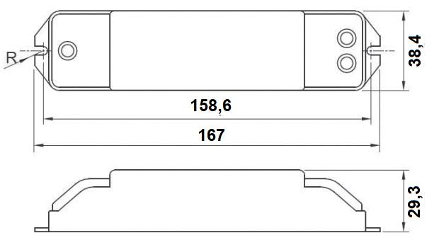 Dimensions transformateur LCI ET3-105 et ET150A