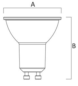 Dimensions ampoule LED GU10