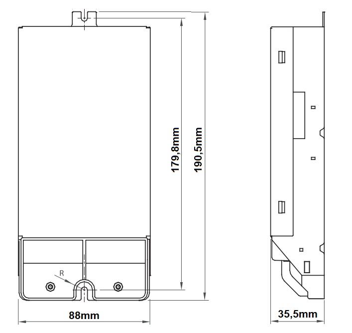 Dimensions ballast électronique iodure 150W