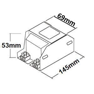 Dimensions ballast sodium 150W