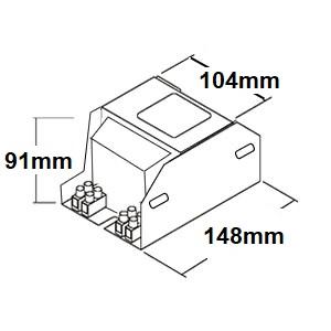 Dimensions ballast sodium 400W