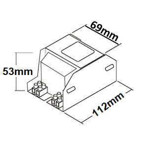 Dimensions ballast sodium 70W et 100W