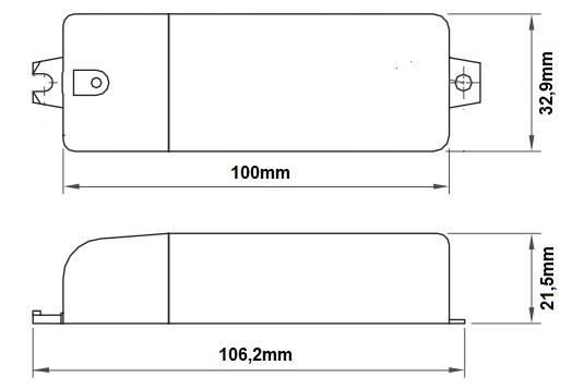 Dimensions transformateur LCI ET3-60C