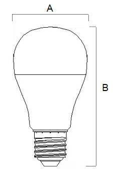 Dimensions ampoule LED standard