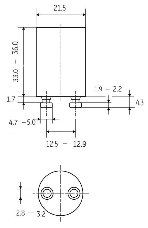 Dimensions starters FS22 et FS11