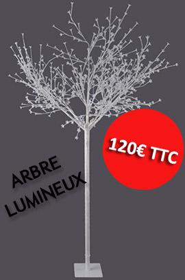 Nouveau sur notre site un arbre lumineux