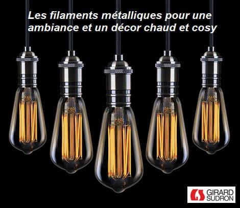 Les ampoules LED effets vintage