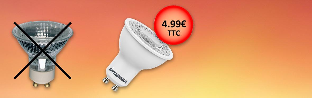 Ampoules LED GU10 remplaçant les lampes halogènes