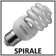 Lampes fluorescentes spirale E27/E14/B22