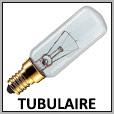 Lampes tubulaire à incandescence E27/E14/B22