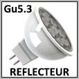 Lampe LED basse tension avec un réflecteur