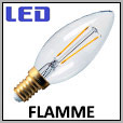 Lampes flammes LED